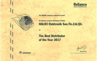 Reliance SCADA'nın En iyi Distribütörü Seçildik